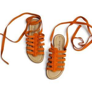 Barbara Barbieri Orange Sue Gladiator Sandals